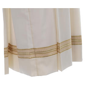 Ivory alb, polyester and wool double twisted yarn, woven fabric s4