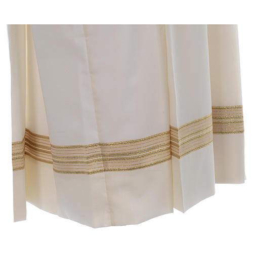 Ivory alb, polyester and wool double twisted yarn, woven fabric 4