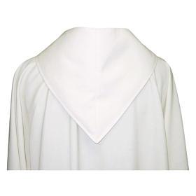 Camice avorio 55% poliestere 45% lana cappuccio aperto s2