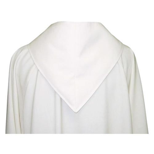 Camice avorio 55% poliestere 45% lana cappuccio aperto 2