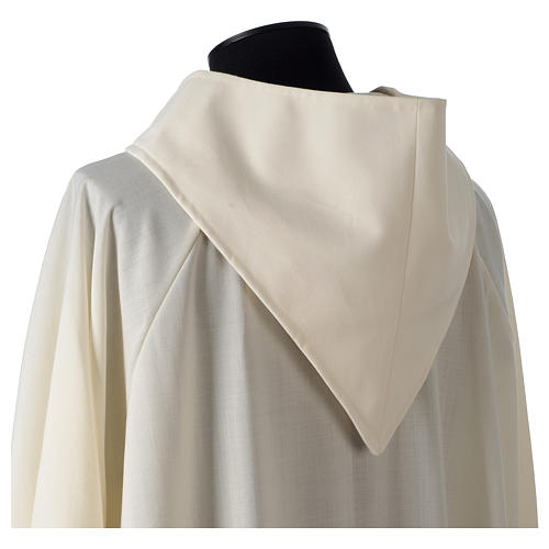 Camice avorio 55% poliestere 45% lana cappuccio aperto 5