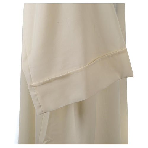 Camice avorio 55% poliestere 45% lana cappuccio aperto 8