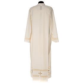 Alba marfil 65% pol 35% algodón bordado dorado cremallera s4