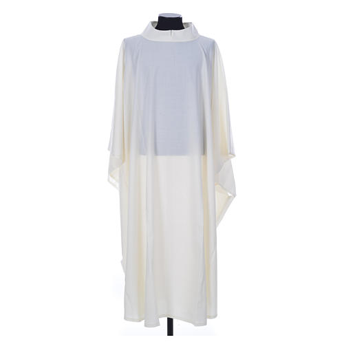 Aube chasuble ivoire 45% laine 55% polyester 1