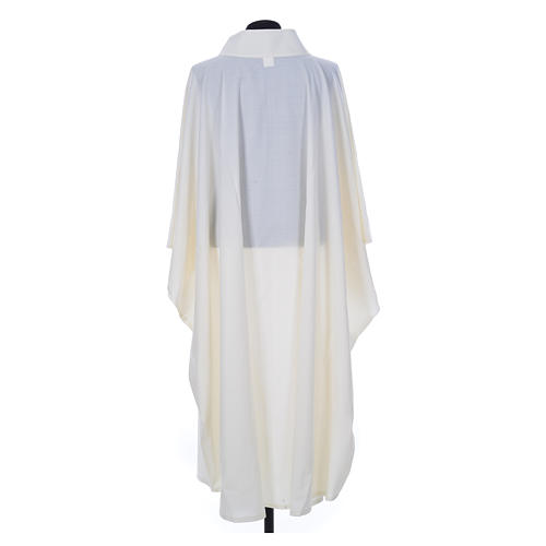 Aube chasuble ivoire 45% laine 55% polyester 2