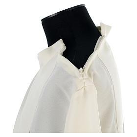 Camice avorio 100% pol. croce stilizzata cerniera su spalla s6