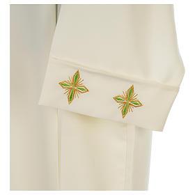 Camice avorio 100% pol. croce stilizzata cerniera su spalla s3