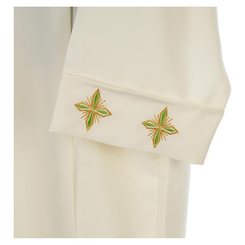 Camice avorio 100% pol. croce stilizzata cerniera su spalla 3