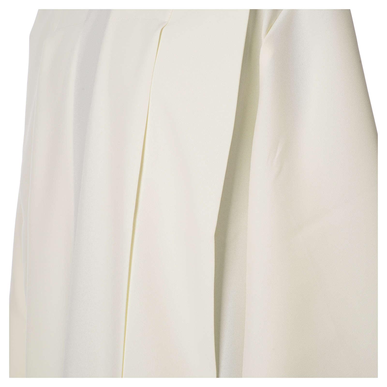 Camice avorio 100% poliestere spighe cerniera su spalla 4