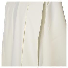 Camice avorio 100% poliestere spighe cerniera su spalla s6