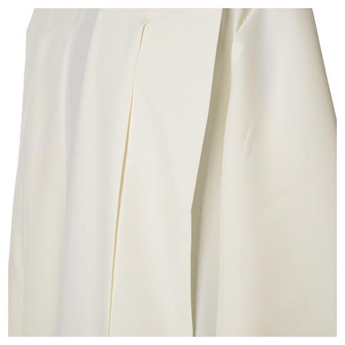 Ivory alb in polyester with wheat and zipper on shoulder 6