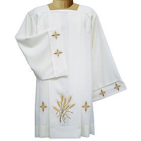 Surplis ivoire croix et épis 4 plis 100% polyester s1