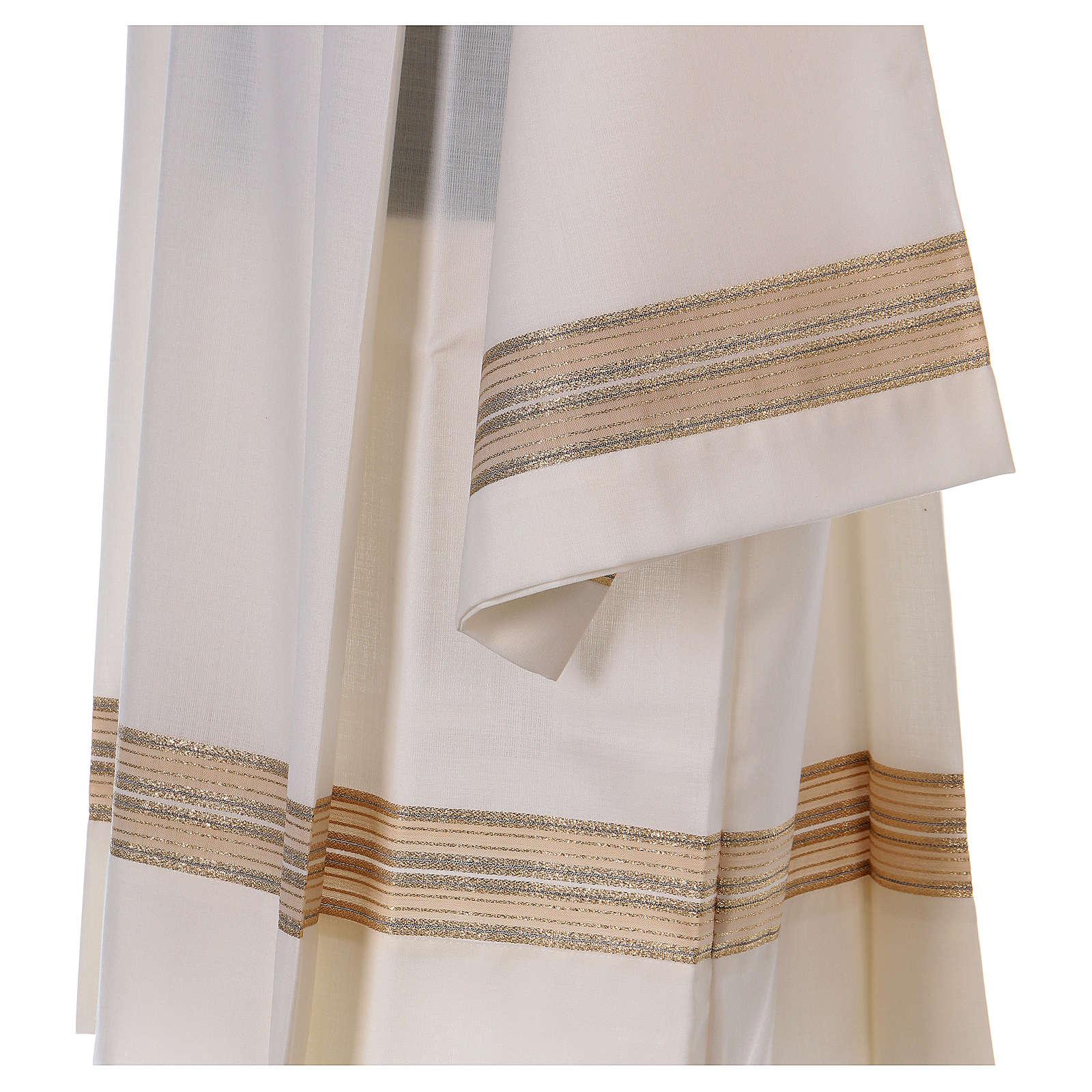 Cotta avorio 55% poliestere 45% lana doppio ritorto stoffa trama 4