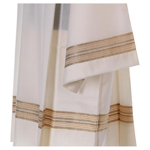 Cotta avorio 55% poliestere 45% lana doppio ritorto stoffa trama 3