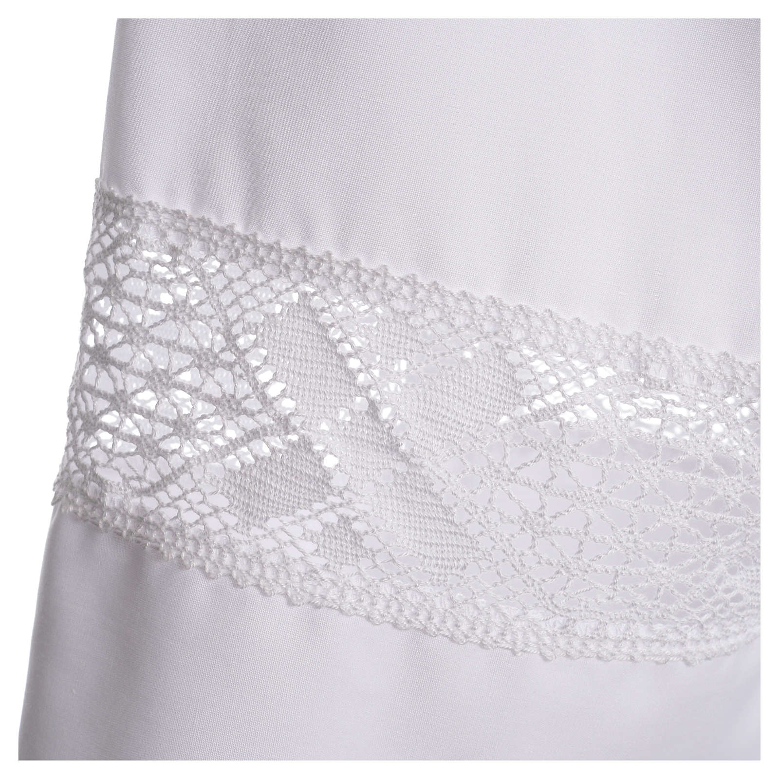 Alb with lace in 65% polyester 35% cotton, white 4