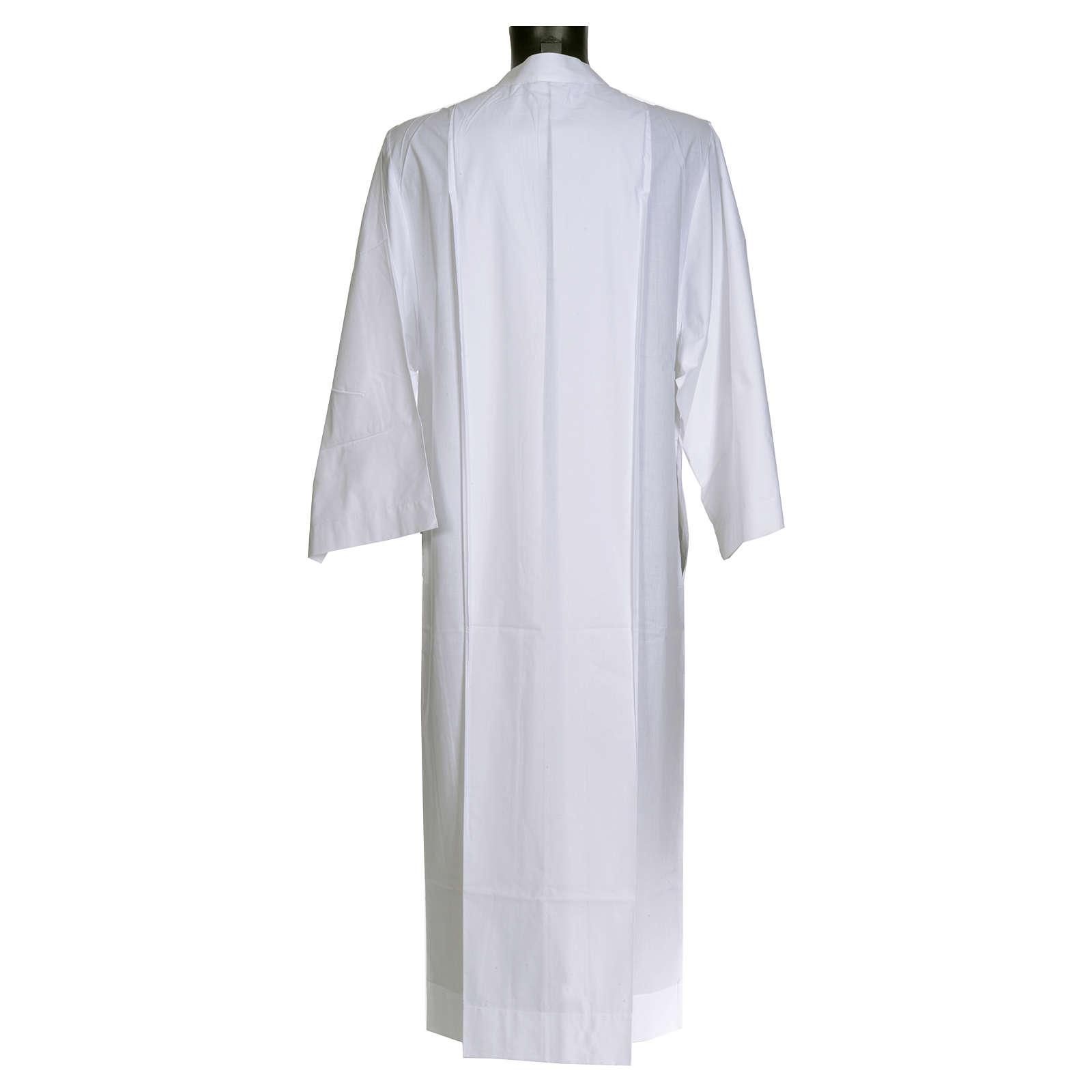 Camice bianco semplice 55% poliestere 45% cotone 4