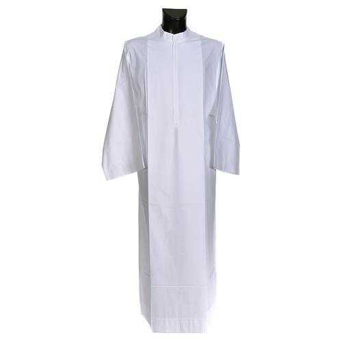 Camice bianco semplice 55% poliestere 45% cotone 1