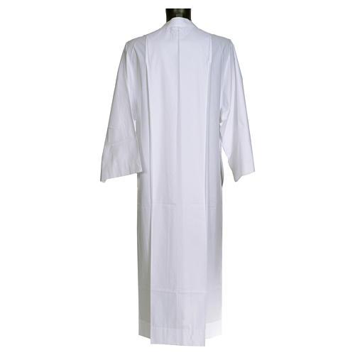 Camice bianco semplice 55% poliestere 45% cotone 2