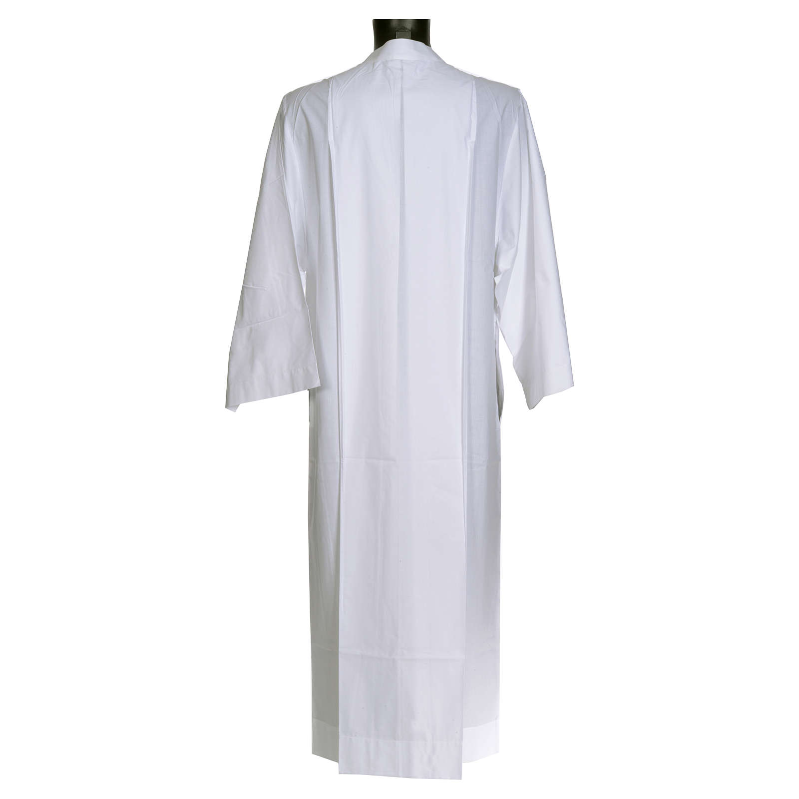 Priest alb in cotton and polyester, simple design 4