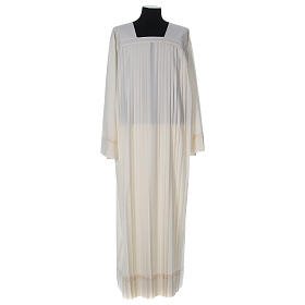 Wool Alb with pleated pattern s1