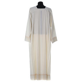 Wool Alb with pleated pattern s5