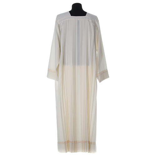 Wool Alb with pleated pattern 5
