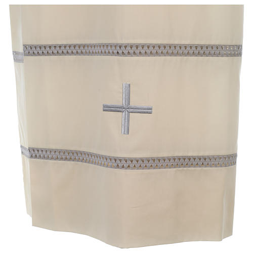 Liturgical alb with cross and gigliuccio hemstitch 2
