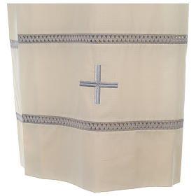 Monastic Alb with cross and gigliuccio hemstitch s2