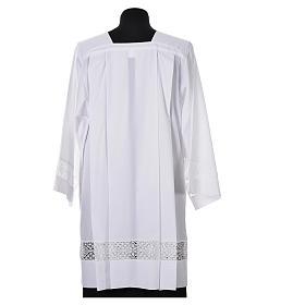 Surplis blanc 100% polyester entretoile dentelle 4 plis s3