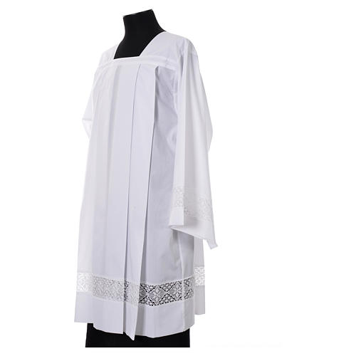 Surplis blanc 100% polyester entretoile dentelle 4 plis 2