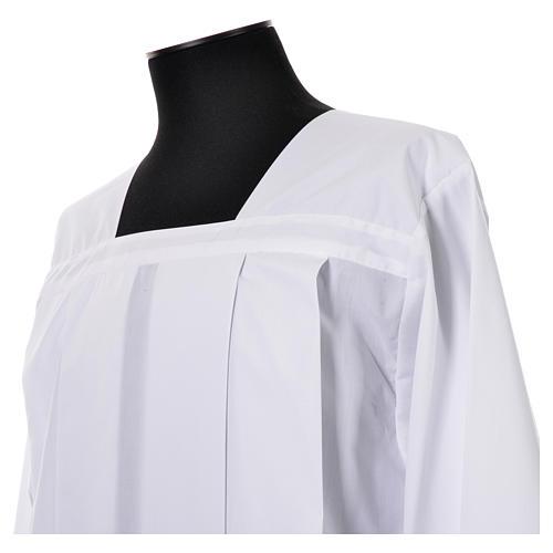 Surplis blanc 100% polyester entretoile dentelle 4 plis 4
