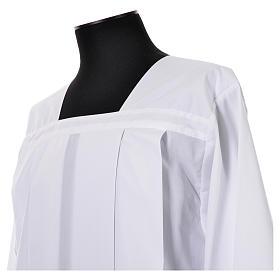 Cotta bianca 100% poliestere tramezzo merletto 4 piegoni s4