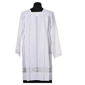 White Surplice 100% polyester lace partition 4 pleats s3