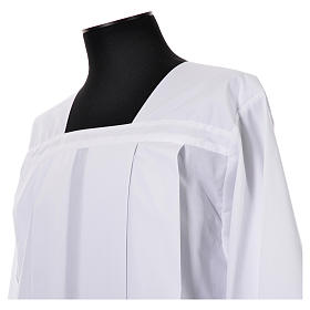 White Surplice 100% polyester lace partition 4 pleats s4
