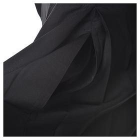 Soutane en laine noire avec boutons couverts s10