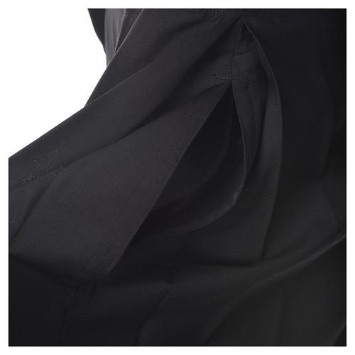 Abito talare in lana nera con bottoni ricoperti 10