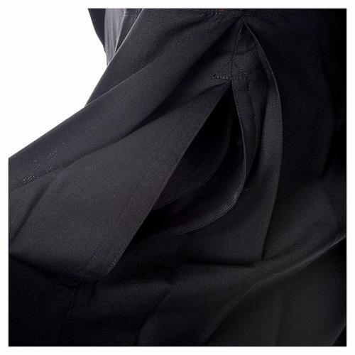 Abito talare in lana nera con bottoni ricoperti 5