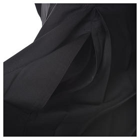Black cassock in pure wool with covered buttons s10