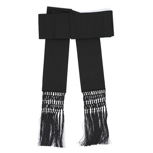 Fajín o banda para sotanas de viscosa color negro 1
