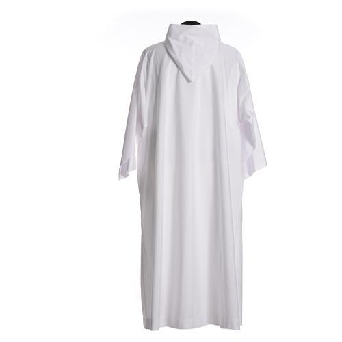 Aube liturgique avec capuchon en coton et polyester 2
