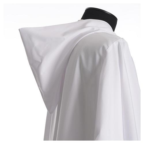 Aube liturgique avec capuchon en coton et polyester 3