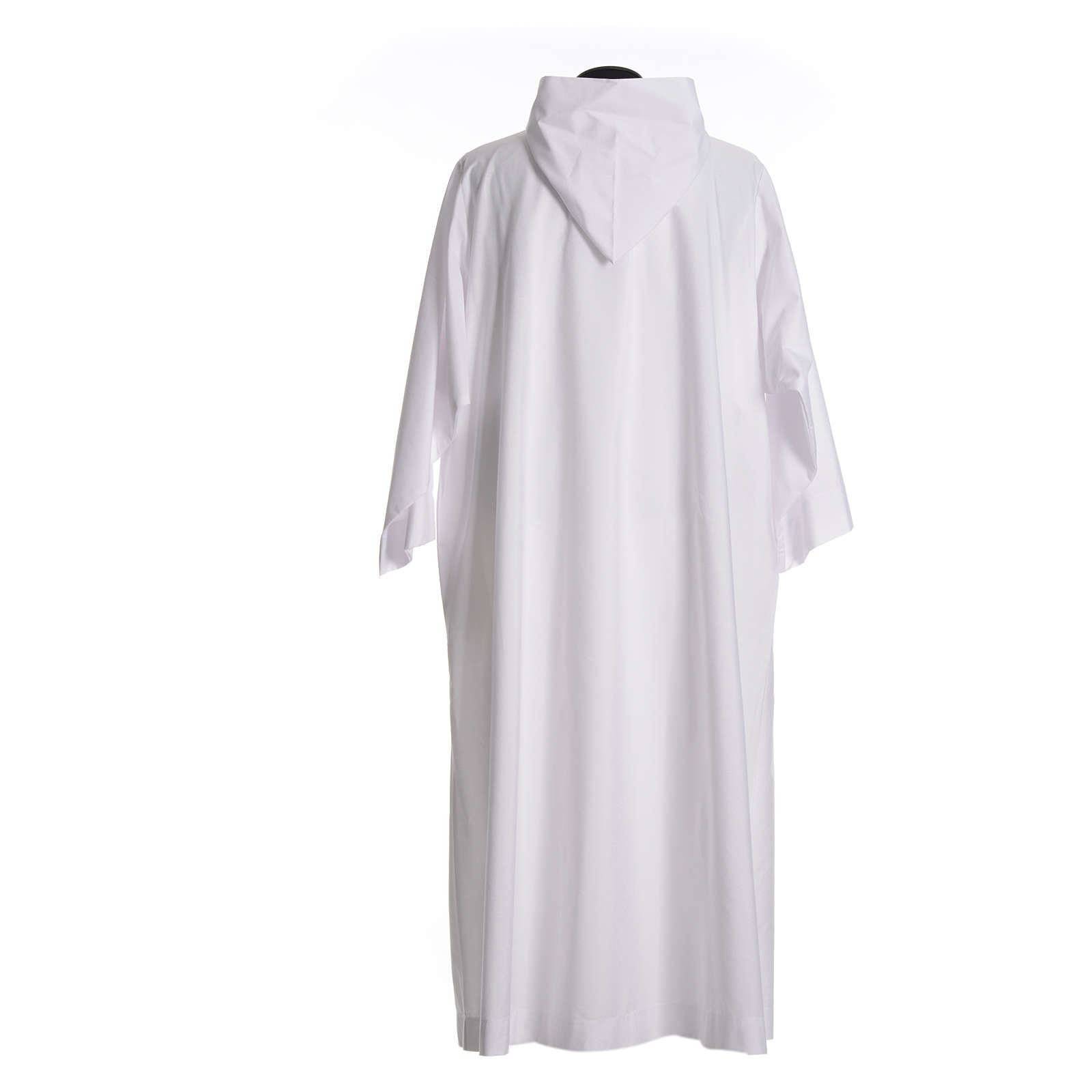Catholic Alb with hood in cotton & polyester 4