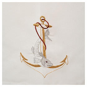 Camice lana poliestere con ancora e pesce s5