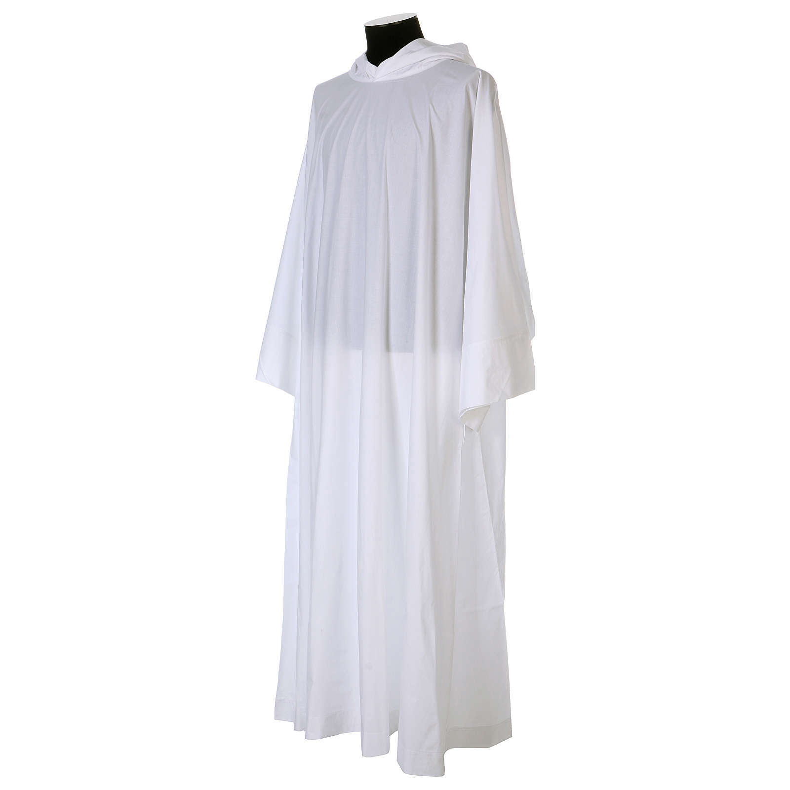 Alba algodón poliéster capucha blanca 4
