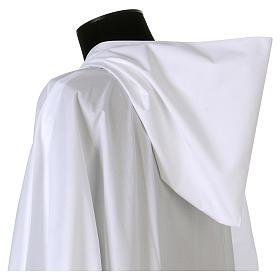 Alba algodón poliéster capucha blanca s3