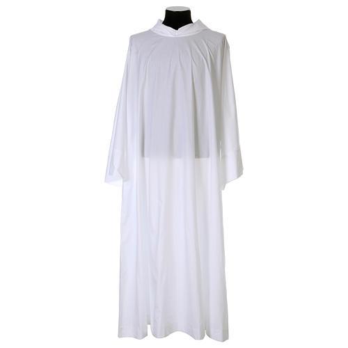 Alba algodón poliéster capucha blanca 1