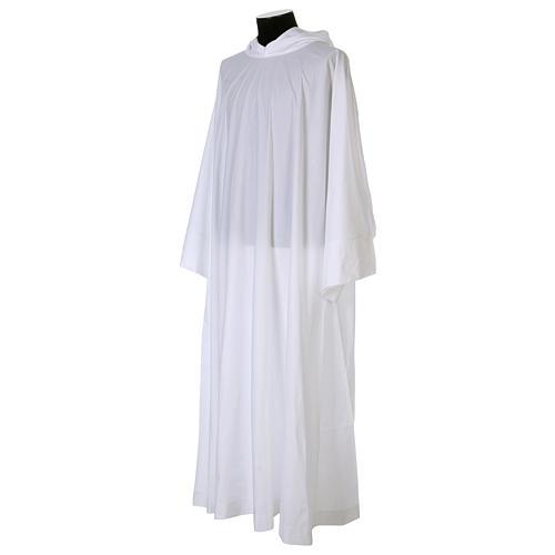 Alba algodón poliéster capucha blanca 2