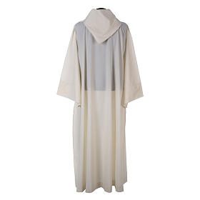 Alba lana poliéster capucha blanca s4