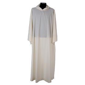 Alba lana poliéster capucha blanca s1
