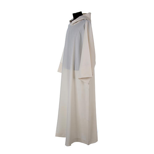 Alba lana poliéster capucha blanca 3